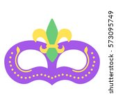 mardi gras mask with color...   Shutterstock .eps vector #573095749