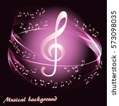 abstract background with music... | Shutterstock .eps vector #573098035
