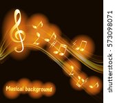 musical abstract background... | Shutterstock .eps vector #573098071