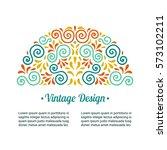 elegant retro flourish semi...   Shutterstock .eps vector #573102211