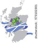 vector image of scotland map... | Shutterstock .eps vector #573102301
