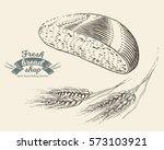 hand drawn bread bakery in... | Shutterstock .eps vector #573103921