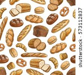 color sketch bread sorts... | Shutterstock .eps vector #573112837