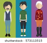 set of people icons in flat... | Shutterstock .eps vector #573113515