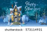 happy new year. winter time....   Shutterstock . vector #573114931