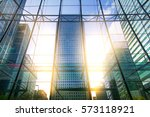 skyscrapers of canary wharf at... | Shutterstock . vector #573118921