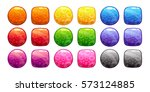 cartoon colorful buttons set....