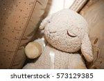 Plush Lamb Stuffed Toy Leaning...