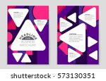 abstract vector layout... | Shutterstock .eps vector #573130351