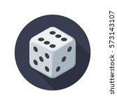dice vector icon. cube symbol... | Shutterstock .eps vector #573143107