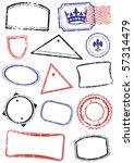vector set of different stamps. ... | Shutterstock .eps vector #57314479