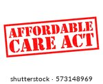 affordable care act red rubber... | Shutterstock . vector #573148969