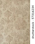 cool retro floral wallpaper in tan and brown design