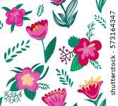 seamless floral pattern. spring ... | Shutterstock . vector #573164347