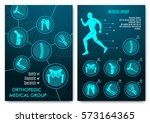 medical infographic with... | Shutterstock .eps vector #573164365