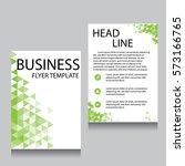 vector brochure flyer design... | Shutterstock .eps vector #573166765
