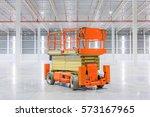 scissor lift aerial work... | Shutterstock . vector #573167965