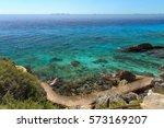Trail Along Ocean  Isla Mujere...