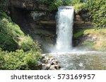 minnehaha falls  minneapolis... | Shutterstock . vector #573169957