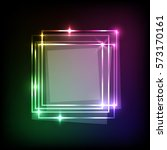 squares banner on neon colorful ... | Shutterstock .eps vector #573170161