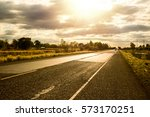 road and sunlight | Shutterstock . vector #573170251