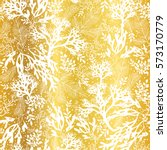 vector golden and white seaweed ... | Shutterstock .eps vector #573170779