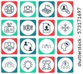 set of 16 business management... | Shutterstock .eps vector #573171697