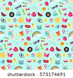 fashion seamless pattern of... | Shutterstock .eps vector #573174691