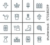 Set Of 16 Agriculture Icons....