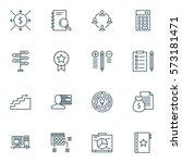 set of 16 project management...   Shutterstock . vector #573181471
