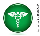 medicine icon. internet button... | Shutterstock . vector #573185665