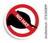 no hat sign on white background....   Shutterstock .eps vector #573185899