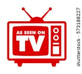 as seen on tv with retro... | Shutterstock .eps vector #573188227