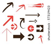 set of arrows | Shutterstock .eps vector #57319423
