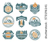 adventure outdoor vintage... | Shutterstock .eps vector #573196141