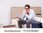 businessman working during... | Shutterstock . vector #573198385