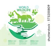 world wildlife day  march 3 | Shutterstock .eps vector #573200809