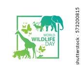 World Wildlife Day, March 3 | Shutterstock vector #573200815