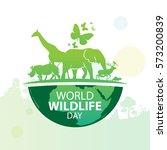 World Wildlife Day, March 3 | Shutterstock vector #573200839