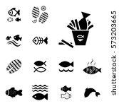 set of fish vector icon... | Shutterstock .eps vector #573203665
