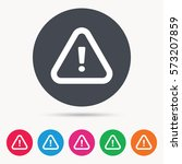 warning icon. attention... | Shutterstock .eps vector #573207859
