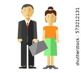 man and woman family couple... | Shutterstock .eps vector #573212131