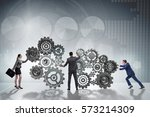 teamwork concept with... | Shutterstock . vector #573214309