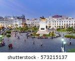 lima  peru  view of san martin... | Shutterstock . vector #573215137