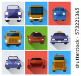 vector illustration of cars... | Shutterstock .eps vector #573221365