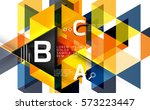 vector geometric infographic... | Shutterstock .eps vector #573223447