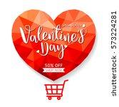 valentine's day sale offer ... | Shutterstock .eps vector #573224281