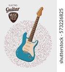 electric guitar  flat design ... | Shutterstock .eps vector #573226825