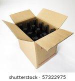 box of wine on the plain...   Shutterstock . vector #57322975