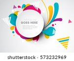 vector of modern abstract... | Shutterstock .eps vector #573232969